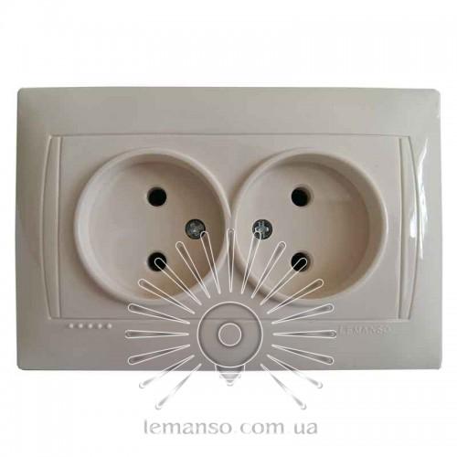 Купить Розетка керамика 2-я LEMANSO Сакура крем LMR1117 в Интернет ... 616b98ca32847