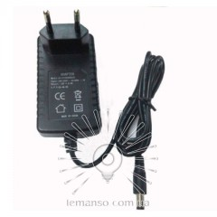 Блок питания пластик + вилка LEMANSO для LED ленты 12V 24W +кабель 1м / LM830