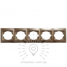 Рамка 5-я LEMANSO Сакура золото горизонтальная LMR1230