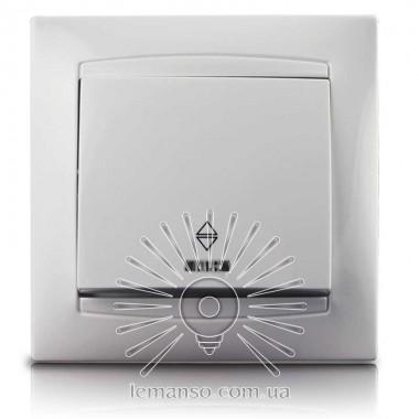 Выключатель 1-й проходной + LED подсветка  LEMANSO Сакура белый  LMR1003 описание, отзывы, характеристики