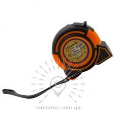 Рулетка LEMANSO 3м x 16мм LTL70015 оранжево-чёрная