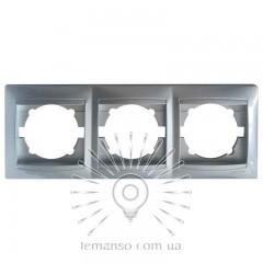 Рамка 3-я LEMANSO Сакура серебро горизонтальная  LMR1312