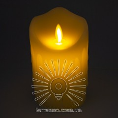 Свеча LED Lemanso 75*125мм 2700K 3xAAA (нет в компл.) IP20 / LM36002 (+пульт, еф. пламя)