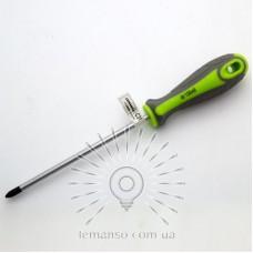 Отвертка LEMANSO PH2x150 LTL40009 серо-зелёная