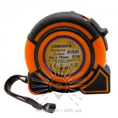 Рулетка LEMANSO 5м x 19мм LTL70016 оранжево-чёрная