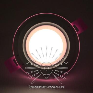 LED панель Сияние Lemanso 9W 720Lm 4500K + розовый 85-265V / LM1037 круг + стекло описание, отзывы, характеристики