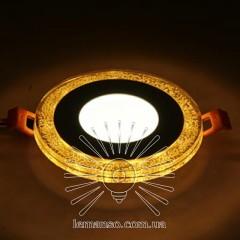 LED панель Lemanso 3+3W с жёлтой подсветкой 350Lm 4500K 175-265V / LM1022 круг