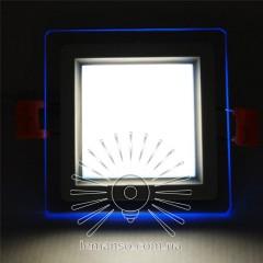 LED панель Сияние Lemanso 6W 450Lm 4500K + синий 85-265V / LM1038 квадрат + стекло