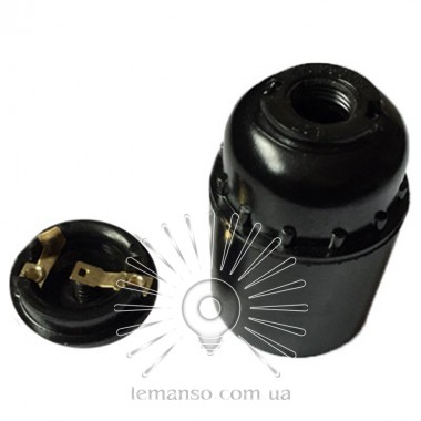 Патрон LEMANSO Е27 бакелит чёрный - итальянский  4A 250V / LM2528 (LM138) описание, отзывы, характеристики
