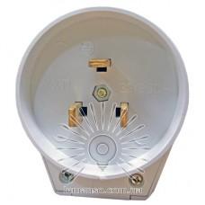 Вилка для электроплит однофазная с заземл белая Lemanso LMA314