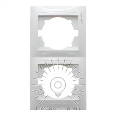 Рамка 2-я LEMANSO Сакура белая вертикальная LMR1032 описание, отзывы, характеристики
