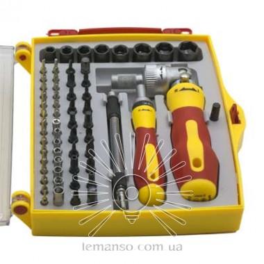 Набор сменных головок и бит с держателем и удлинителем 62 шт. LEMANSO LTL10032 описание, отзывы, характеристики