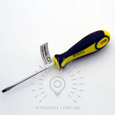 Отвертка плоская LEMANSO 3x75 LTL30002 желто-чёрная описание, отзывы, характеристики