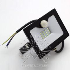 Прожектор LED 10w 6500K IP65 800LM LEMANSO з вбудованим датчиком / LMPS15