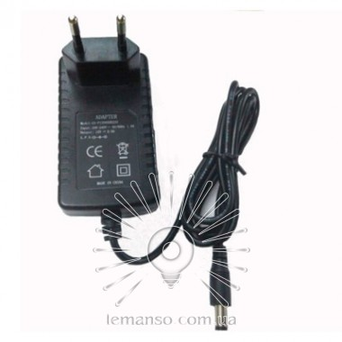 Блок питания пластик + вилка LEMANSO для LED ленты 12V 24W +кабель 1м / LM830 описание, отзывы, характеристики