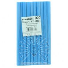 Стержни клеевые 10шт пачка (цена за пачку) Lemanso 11x200мм синие LTL14024