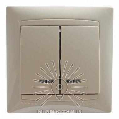 Выключатель 2-й + LED подсветка  LEMANSO Сакура крем   LMR1107 описание, отзывы, характеристики