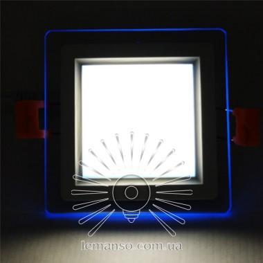 LED панель Сияние Lemanso 6W 450Lm 4500K + синий 85-265V / LM1038 квадрат + стекло описание, отзывы, характеристики