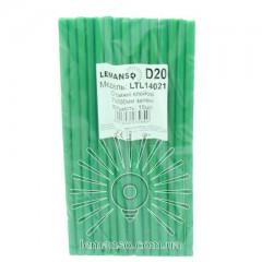 Стержни клеевые 15шт пачка (цена за пачку) Lemanso 7x200мм зелёные LTL14021