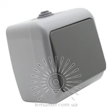 Выключатель накладной 1-й IP54 LEMANSO Немо серый LMR2401 описание, отзывы, характеристики