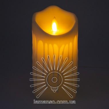 Свеча LED Lemanso 75*150мм 2700K 3xAAA (нет в компл.) IP20 / LM36003 (+пульт, еф. пламя) описание, отзывы, характеристики