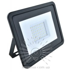 LED Floodlight 30w 6500K IP65 2000LM LEMANSO black with micr. sensor / LMPS16-30 / delay off. 30s