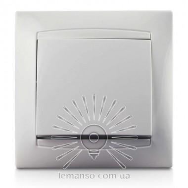 Выключатель 1-й LEMANSO Сакура белый LMR1001 описание, отзывы, характеристики