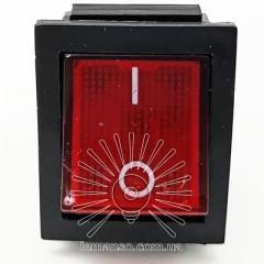 Переключатель  Lemanso  LSW02 большой красный с подсв. / KCD2-201\N