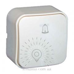 Кнопка звонка накладная LEMANSO Нота белая  LMR2312