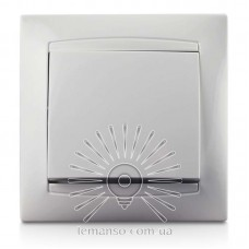 Выключатель 1-й LEMANSO Сакура белый LMR1001