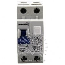 Диференціальний автомат Lemanso 6.0KA 1п + н 40A 30mA RCBO LBO60