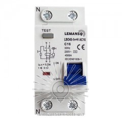 Дифференциальный автомат Lemanso 4.5KA 1п+н 20A 30mA RCBO LBO45