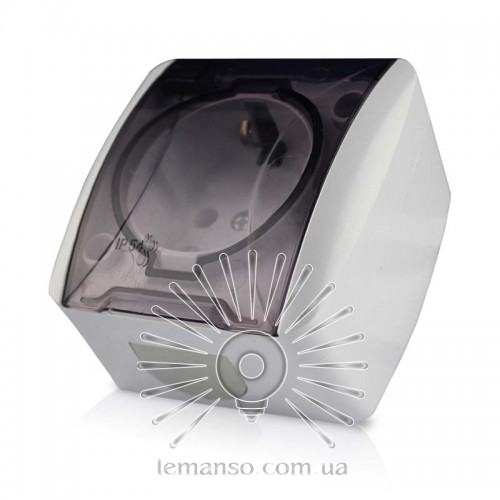 Розетка накладная 1-я с зазем. +крышка LEMANSO Магнолия белая LMR2005  описание 0c31e5f11ecb6