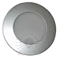 LED панель Lemanso 6W 480LM 4000K круг серебро / LM451