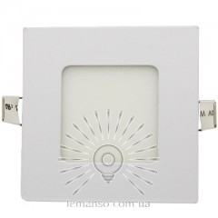 LED панель Lemanso 3W 120LM 85-265V 4500K квадрат / LM1046 Комфорт