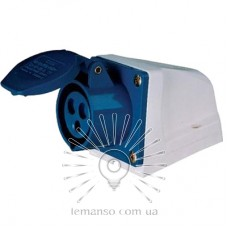 Гнездо стационарное LM2011 (ГС) Lemanso 32А/3п (2п+н) 220-240V IP44 синее / упак=2шт