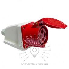 Гнездо стационарное LM2029 (ГС) Lemanso 32А 4п (3п+н) 380-415V IP44 красное / упак=2шт