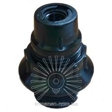 Патрон LEMANSO Е14 бакелит, резьба с кольцом чёрный / LM132