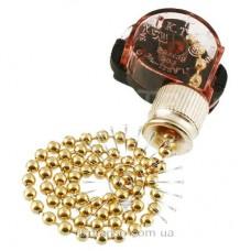Выключатель Lemanso с цепочкой золото LMA031