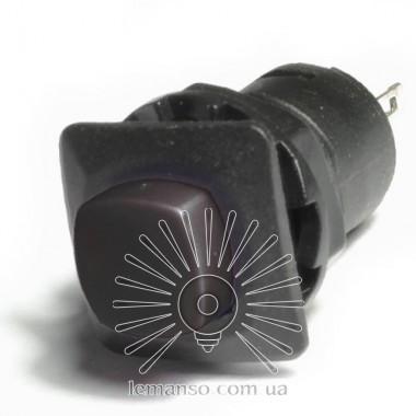 Кнопка Lemanso LSW11 квадрат чёрная без фикс.OFF-(ON)/ DS-225 описание, отзывы, характеристики