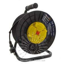 Удлинитель-катушка LMK72006 4 гнезда с крышками 20м 16A с/з Lemanso защита от перегрузки, макс нагр 800-3000Вт