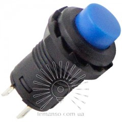 Кнопка Lemanso LSW34 круглая синяя без фикс. OFF-ON / DS-227 (мгновенная) 1A 250VAC