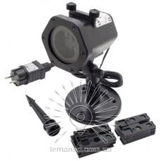 Проектор LED Lemanso 6W белый  IP65 100-240V+б/п с провод (5м)+сменные карты рис.(12шт) / LM36015, чёрный