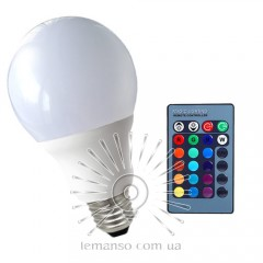 Light bulb Lemanso LED E27 RGB 3W 210LM with remote control 85-265V (48*92mm) / LM735
