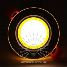 LED панель Сияние Lemanso 9W 720Lm 4500K + жёлтый 85-265V / LM1037 круг + стекло
