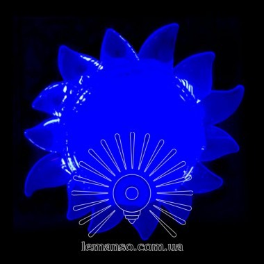 Ночник Lemanso Солнце голубой 4 LED / NL151 описание, отзывы, характеристики