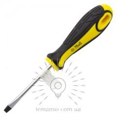 Отвертка плоская LEMANSO 5x75 LTL30003 желто-чёрная