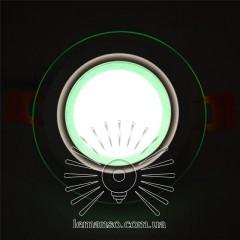 LED панель Сияние Lemanso 9W 720Lm 4500K + зеленый 85-265V / LM1037 круг + стекло