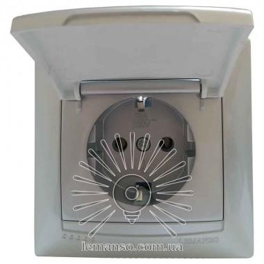 Розетка с крышкой LEMANSO Сакура серебро LMR1327 описание, отзывы, характеристики