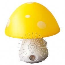 Night light Lemanso Mushroom 3 LED 6500K with sensor yellow / NL16